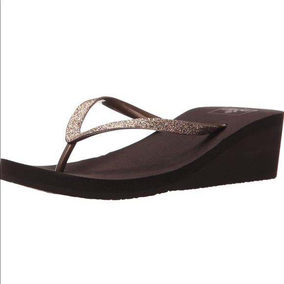 95249e83419dcc Reef Krystal Star Thong Sandal women s Size 10